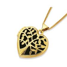 9ct gold tree of life locket with