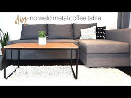no weld metal wood coffee table how