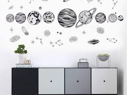 Solar System Wall Decals Glow In The Dark Amazon Stickers India Design Uk Etsy Large Target Vamosrayos