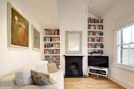 fireplace with bookshelves houzz