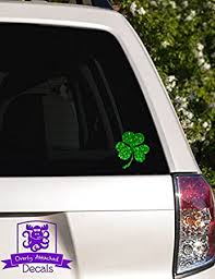 Amazon Com Overly Attached Decals Irish Shamrock Specialty Vinyl Car Decal 6 Green Metal Flake Automotive