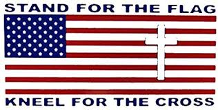 Amazon Com Ant Enterprises Wholesale Lot Of 6 Stand For The Flag Kneel For The Cross Decal Bumper Sticker Automotive