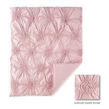 willow 5 piece crib bedding set pink