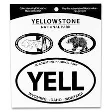 Yellowstone National Park Triple Decal Shop Americas National Parks