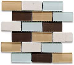 beige travertine 2x4 subway mosaic