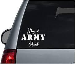 Amazon Com Proud Army Aunt Decal White Military Service Soldier Family Car Automotive Window Sticker Automotive