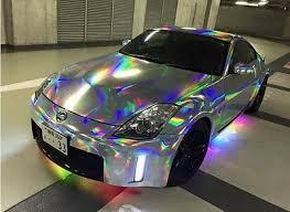 Vvivid Silver Holographic Rainbow Chrome Vinyl Car Wrapping Decal Voitures De Luxe Voiture De Princesse Super Voiture