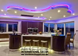 Modern false ceiling design for kitchen with led light