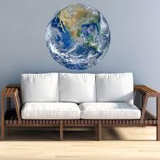 Vwaq 3d Globe Wall Decal Earth Vinyl Sticker Planet Earth Wall Art Pas26 36 Diameter Walmart Com Walmart Com
