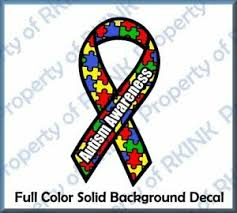 Autism Awareness Ribbon Fc 8 Vinyl Decal For Car Truck Window Wall Home Glass Ebay