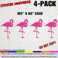 4 Pack Mini S Pink Flamingos Funny Small Decal Stickers For Tumblers Phones 0131 Ebay