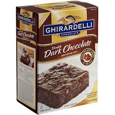 double dark chocolate brownie mix