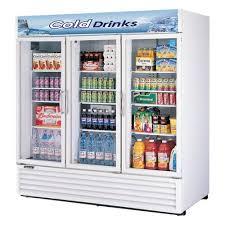 merchandising glass door refrigerator