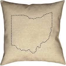 Amazon.com: ArtVerse Katelyn Smith Ohio Silhouette Pillow (w/Removable  Insert) - Cotton Twill, 20 x 20, State Outline: Home & Kitchen