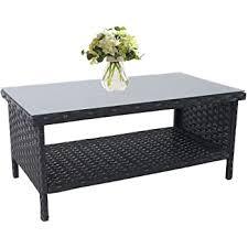 hampton bay wicker outdoor coffee table