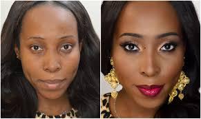no makeup tutorial for dark skin