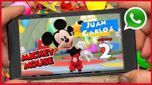 Mickey Mouse Video Invitacion Cumpleanos Whatsapp Youtube