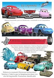 Kit Imprimible Cars 2 Disena Tarjetascurso Virtual