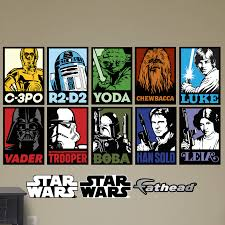 Fathead Star Wars Portraits Peel And Stick Wall Decal Reviews Wayfair