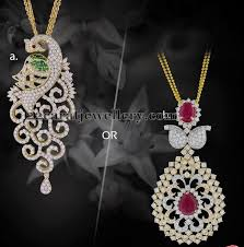 latest diamond pendants by kirtilals