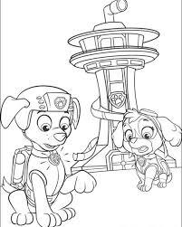 Paw Patrol Kleurplaat Kleurplaten 3 In 2020 Kleurplaten Disney