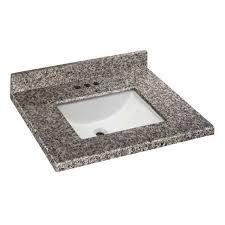 granite vanity top white basin sink