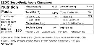 nutrition ings zego foods