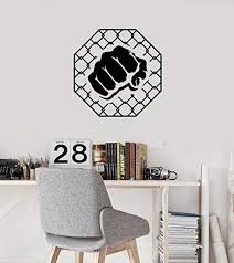 Amazon Com Mma Cage Vinyl Wall Decal Fight Club Fighter Decor Stickers Mural Tt1052 Home Kitchen