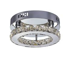led modern crystal ceiling mounted