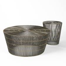 thoban coffee table woven wire natural