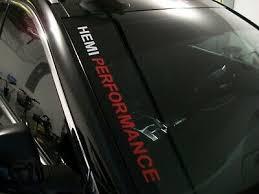 Hemi Performance Windshield Decal Fits Dodge Charger Challenger Ram 1500 2500 Ebay