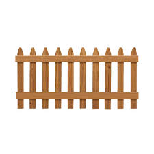 Outdoor Essentials 3 Ft X 6 Ft Pressure Treated Cedar Tone Moulded Wood Fence Panel 162522 The Home Depot Wood Fence Fence Panels Outdoor Wood
