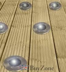 solar powered led garden deck lights