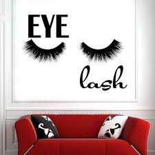 Girl False Eyelashes Vinyl Wall Decal Beauty Salon Makeup Eyelash Wall Stickers Removable Indoor Room Decoration Wallpaper Mural Stickers For Walls Mural Wall Decals From Joystickers 12 66 Dhgate Com