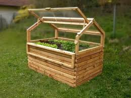 raised bed with cold frame