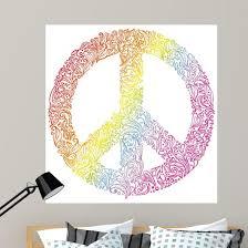 Peace Sign Beautiful Symbol Wall Decal Wallmonkeys Com