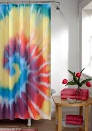 tie dye fabric bath shower curtain