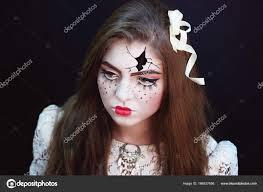 broken doll halloween make up