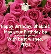 latest happy birthday wishes for bhabhi