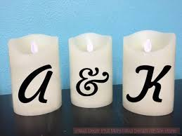 Personalized Names Vinyl Stickers Lettering Decals For Led Flameless Candles