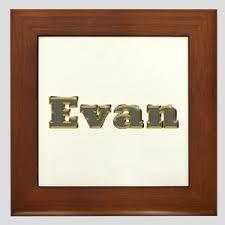 Evan Name Wall Art Cafepress