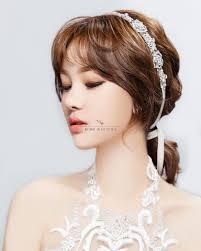 korean wedding make up hair sle