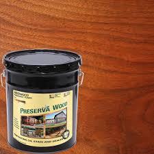 Preserva Wood 5 Gal Oil Based Redwood Penetrating Exterior Stain And Sealer 40502 The Home Depot