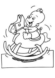 Kleurplaat Baby Op Schommelpaard Gratis Kleurplaten Om Te Printen