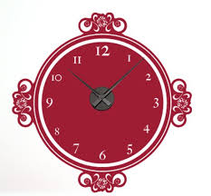 Style And Apply Decor Moments Wall Clock Wall Decal Wayfair