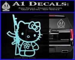Hello Kitty Rifle Decal Sticker Ak 47 Ar 15 A1 Decals