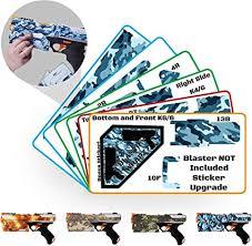 Amazon Com Blastr Wrapz Gun Not Included Kronos Sticker Decals For Nerf Xviii 500 1 Pack Custom Toy Blaster Vinyl Skin Upgrade Mod Kids Teens Adults Arctic Camo Toys Games