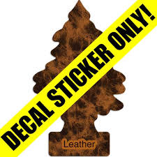 Little Trees Decal Overlay Leather Vending Machine Overlay