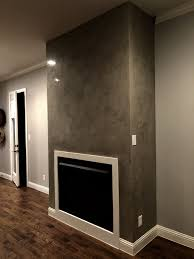 fireplace surround venetian plaster