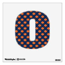 Orange Amp Navy Blue Quatrefoil Pattern Wall Decal Wall Decals Quatrefoil Pattern Wall Patterns